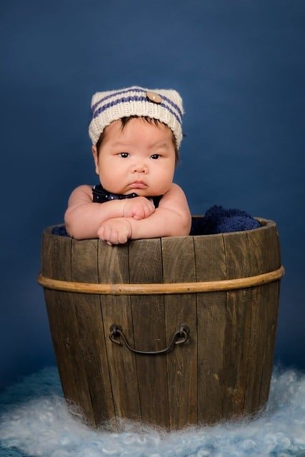 Baby Photography in basket