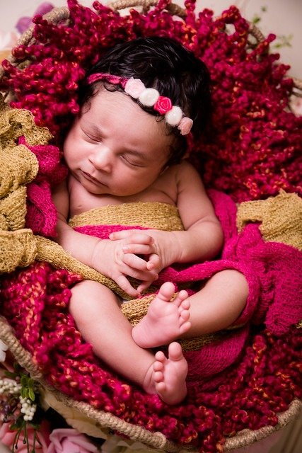 Colourful Newborn Photos